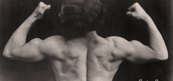 Strong Woman Flexing