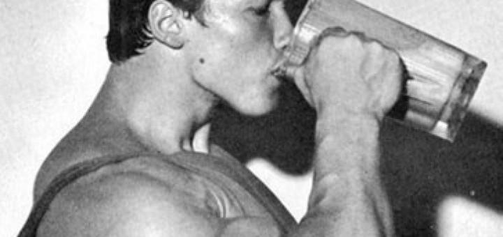 Arnold Schwarzenegger Drinking