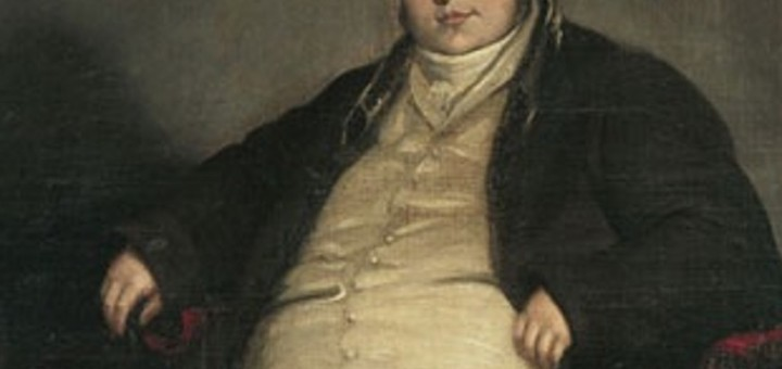 Painting of overweight man