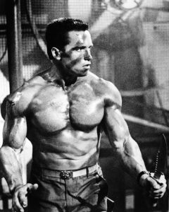 Arnold Schwarzenegger in the film Commando
