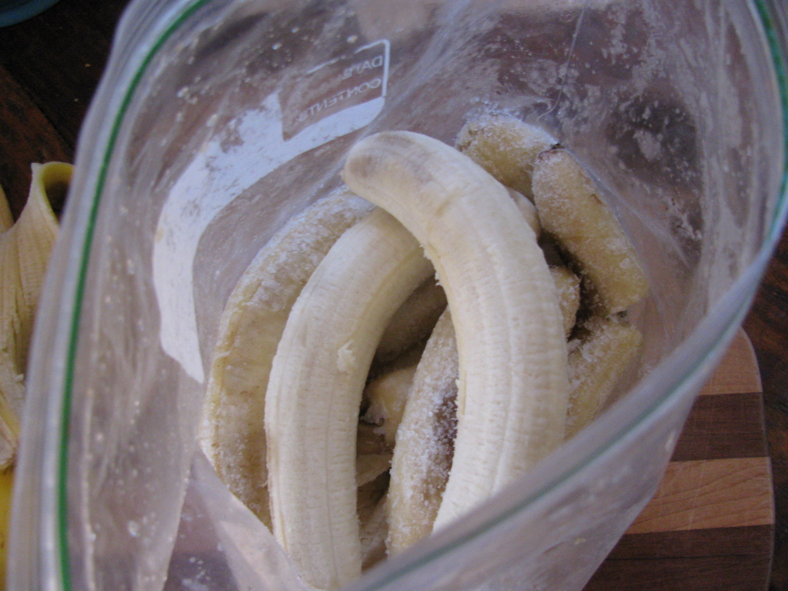 bananas in a ziplock bag