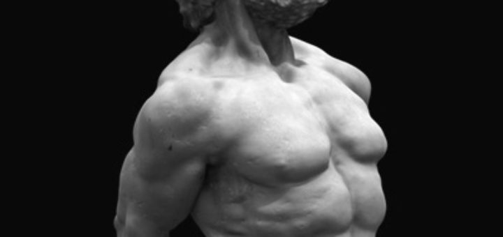 Statue of strong man