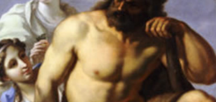 Painting of strong hercules