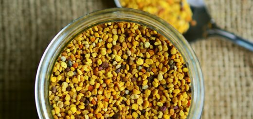 Jar of bee pollen